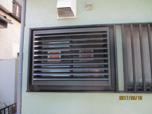 交換した窓の外部